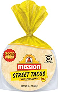 Mission Foods Street Tacos Tortillas, Yellow Corn, 24 Count