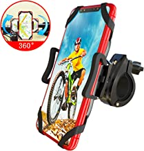 Bike Phone Mount, Detachable 360° Rotation Adjustable Universal Silicone Handlebar Cradle Motorcycle Phone Mount -for iPhone 11 Pro Max/X/XR/XS MAX/8/7 Plus, Samsung Galaxy S20 or Any Cell Phone…