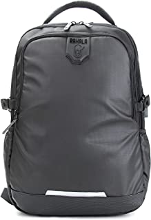 Rahala Casual Men Shoulder Bag Large Capacity Waterproof Student Laptop School Male Backpack - Black
