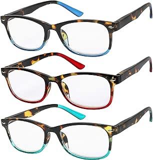 Reading Glasses Set of 3 Great Value Spring Hinge Readers Men and Women Glasses for Reading +1.25