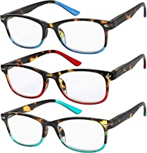 Reading Glasses Set of 3 Great Value Spring Hinge Readers Men and Women Glasses for Reading +1.75
