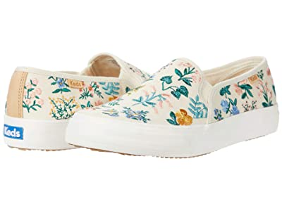 Keds Double Decker Wildflower Embroidered (Natural Embroidered Canvas) Women