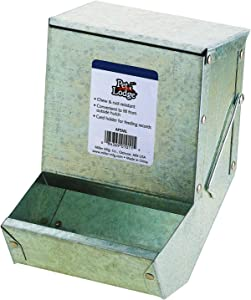 Pet Lodge Steel Small Animal Feeder with Lid Small Animal Feed Box, Hold Several Days Worth of Feed, Great for Rabbits, Ferrets and Other Small Animals (5 Inch) (Item No. AF5ML)