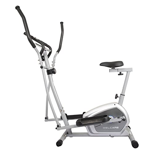 Welcare Elliptical Cross Trainer WC6044 with Adjustable seat, Hand Pulse Sensor, LCD Monitor, Adjustable Resistance for Home Use