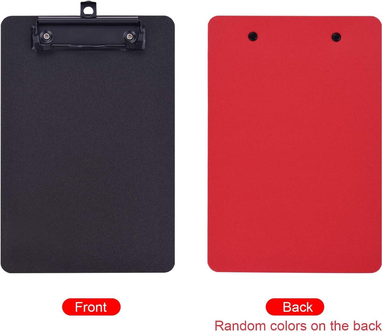 Clip a basso profilo,Entweg Lavagna per appunti in plastica formato A4 Lavagna per appunti Portabiglietti a basso profilo con foro per appendere ufficio della scuola degli studenti