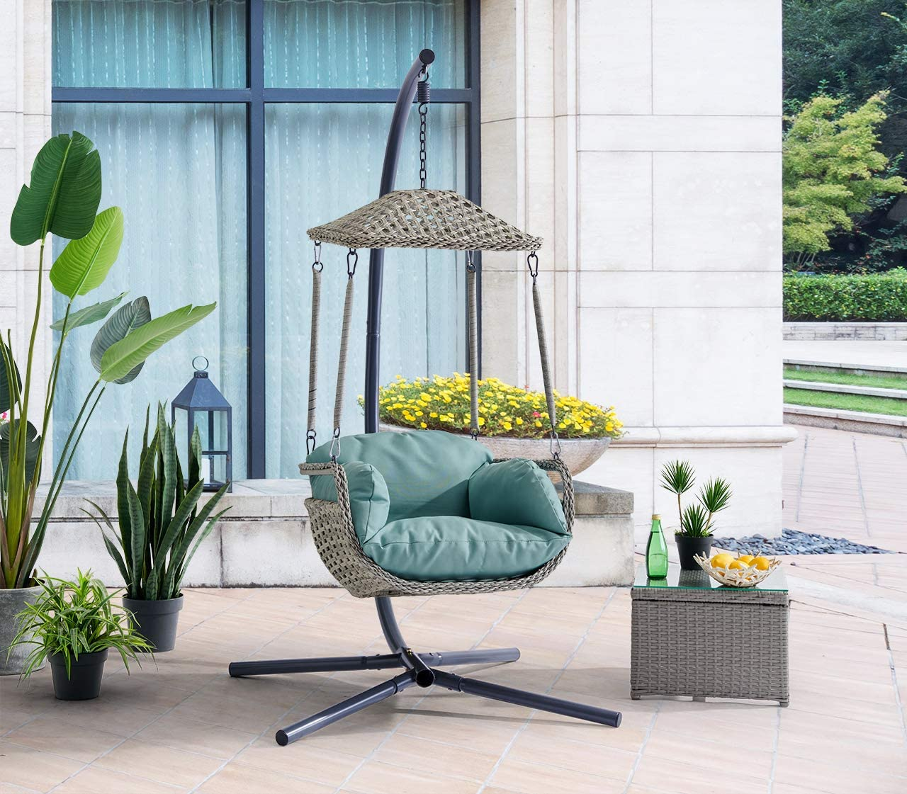 Barton Patio Hanging Lounge Opening large release sale Chair Indoor with Arm NEW before selling ☆ Outdoor
