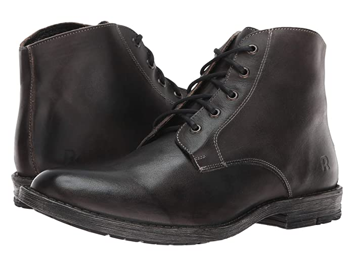 1920s Boardwalk Empire Shoes Roan Orson Black Rustic Mens Shoes $116.96 AT vintagedancer.com