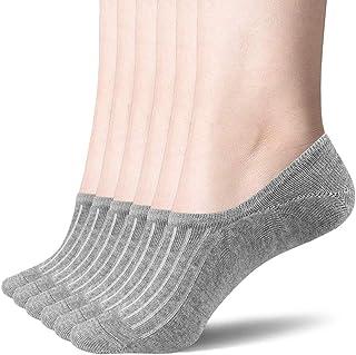 SAPJYA Womens Cotton Casual Thin No Show Socks Non Slip Boat Line Flat Socks (6