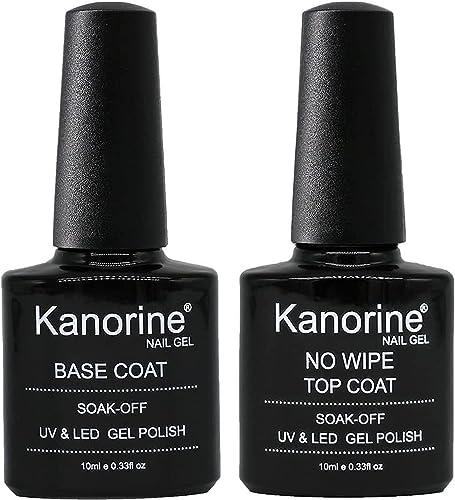 Kanorine™ Vernis Semi permanent Top Coat Base Coat/ Vernis et gel UV/LED pour ongles - Couche de base et couche de fi...