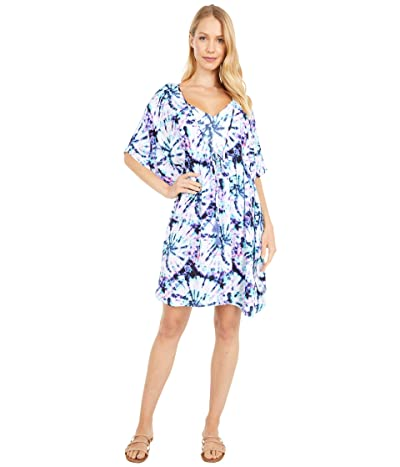 Jessica Simpson Tie-Dye for Border Cover-Up (Mist) Women
