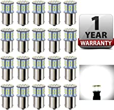 Antline 1156 1141 1003 7506 BA15S LED Bulbs White 20-Packs, Super Bright 3014 50-SMD LED Replacement 12 Volt RV Camper Trailer Boat Trunk Interior Lights