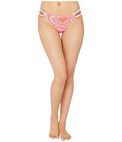 Trina Turk 25th Anniversary Morning Sunrise Side Shirred Hipster Bikini Bottoms (Multi) Women