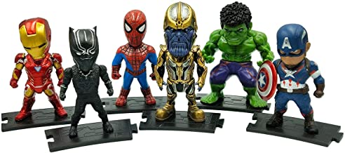 Action Figure Superhero Set 6 Toys Set Series Block Building Hero Toy Mini Block Figures