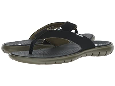 Hurley Flex 2.0 Sandal (Black/White/Olive) Men