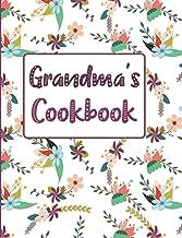 Grandma's Cookbook: Floral Blank Lined Journal (Grandma's Recipe Gifts)