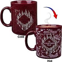 Harry Potter Marauder's Map Heat Reveal Ceramic Coffee Mug - Marauder's Map Image Activates with Heat