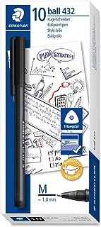 STAEDTLER 432M 9Office Ballpoint Pen Medium Line Width, 0.45mm, 10Pcs In Box, Black