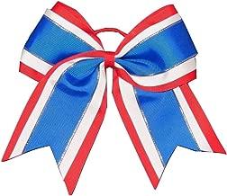 "NEW /""CHEVRON Teal Blue/"" Cheer Bow Pony Tail 3/"" Ribbon Girls Hair Cheerleading"