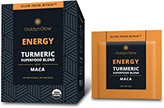 Sponsored Ad - GoldynGlow Energy - Organic Turmeric Superfood Blend w/MACA (20 Count) Helps with Adrenal Health and Fatigu...