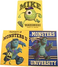 Tri-coastal Design Disney Monsters University Folder 3 Pack ~ Mike Wazowski, Sulley in Monster's University, Property of Monsters U on Yellow