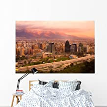 Wallmonkeys Panoramic Santiago Chile South Wall Mural Peel and Stick Graphic (72 in W x 48 in H) WM105024