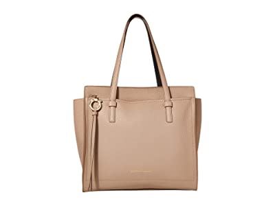 Salvatore Ferragamo Amy Satchel (Adobe Stone) Handbags