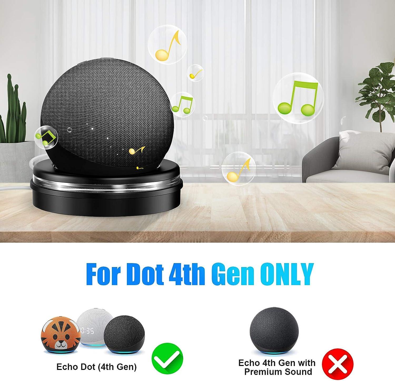 Inteligente Soporte Dot 4 con el Escritorio con Guarda Cable Integrado y Gu/ía de Luz en Forma de Anillo Cocoda Soporte Mesa para Echo Dot 4./ª Generaci/ón Haga Que el Echo Dot Sea M/ás Notable
