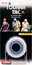 Tourna Tac, Tacky Feel Tennis Grip, White/Blue/Pink, 3/Roll
