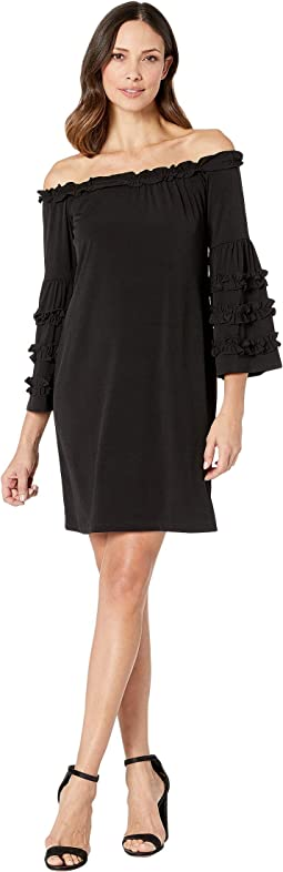 Little Black Dress w/ Ruffle Detail Sleeve