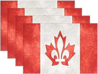 Jojogood Canada Fusion Flag Placemat Dining Table Mat 12
