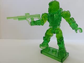 Mega Bloks Halo Series 7 Translucent Green Spartan Warrior Ultra Rare Mystery Chase With White Spartan Scout Rare Factory Sealed