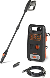 Black+Decker 110BAR 1400W High Pressure Washer Cleaner With Rotating Nozzle, Portable Cleaning Machine for Cars / Fences /...