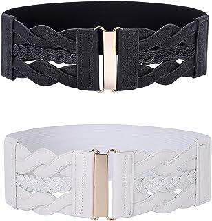 GRACE KARIN Women Vintage Elastic Stretchy Retro Wide Waist Cinch Belt CL706