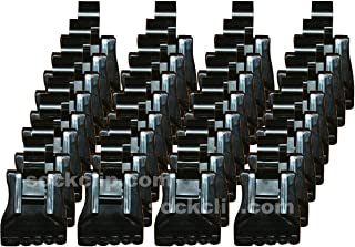 The Amazing Sock Clip Sock Holder, 32 Clips, Black, Made in U.S.A.