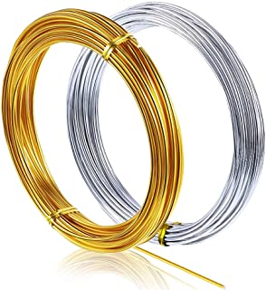 65.6 Feet Aluminum Craft Wire,Bendable Metal Wire Soft and Flexible for Making Doll Skeletons DIY Crafts Beading Wire Silv...