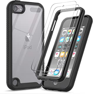 iPod Touch 7th/6th/5th Generation Case, iPod Touch Case with Tempered Glass Screen Protector [2 Pack], LeYi Full-Body Armor Hybrid Rugged Protective Clear Bumper Case Cover for Apple iPod Touch 7/6/5