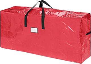 """AOTUNO Premium Red Christmas Tree Bag Holiday Extra Tall for up to 9 Ft Tree (64.5"""" x 30.5"""" x 15"""")"""