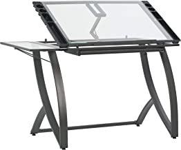 SD STUDIO DESIGNS 10079 Futura Luxe Drawing, Drafting, Craft Table with Drawer, 35