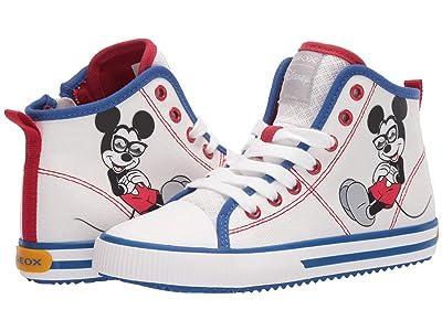 Geox Kids Alonisso 49 Mickey Mouse (Little Kid/Big Kid) (White/Royal) Boy