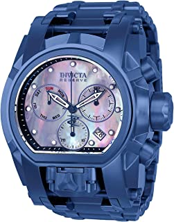 Men's Reserve Quartz Watch with Stainless-Steel Strap, Blue, 34 (Model: 26709)