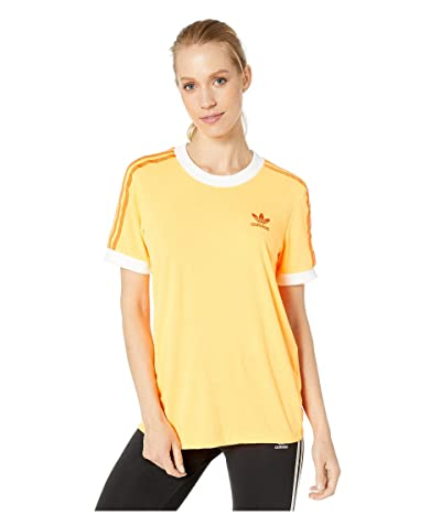 adidas Originals 3-Stripes Tee (Flash Orange) Women