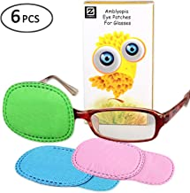 Plinrise 6 PCS Amblyopia Eye Patch For Glasses, Treat Lazy Eye, Amblyopia And Strabismus, Eye Patch For Children, Regular Size (3 Colors)