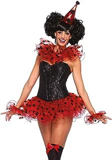 Leg Avenue Women's 3 Piece Clown Costume Kit, Red/Black, One Size