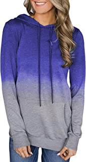 Twinklady Women's Hoodies Long Sleeve Floral Pullover Casual Sweatshirt with Pockets