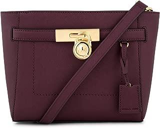 Hamilton Traveler Leather Messenger Bag (Plum)