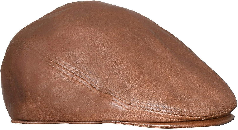 Men's 5 ☆ very popular Real Soft Leather Ivy Beret Fla Over item handling Newsboy Gatsby Golf Cabbie