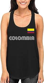 SpiritForged Apparel Colombia Soccer Jersey Women's Racerback Tank Top