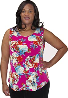 645a50c640daf A Personal Touch Pink Bouquet Women s Plus Size Tank Top