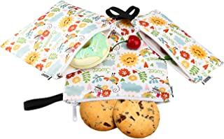 Nuovoware Sandwich Bags Snack Bags [3 Pack] Zipper Bag for Men & Women, Boys & Girls, Food Storage for Cookie Nuts Candy Hamburgers Fruits, Reusable, Eco-friendly and Washable - Fresh Summer