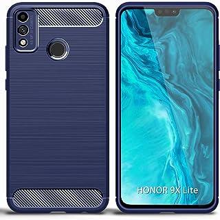 UKDANDANWEI Case for Honor 9X Lite, Carbon Fiber Texture Case Soft Lightweight TPU Back Cover for Honor 9X Lite - Blue